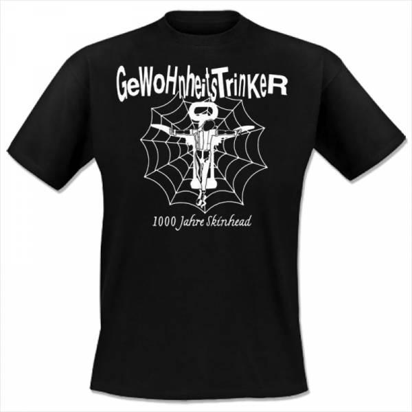 Gewohnheitstrinker - 1000 Jahre Skinhead, T-Shirt schwarz