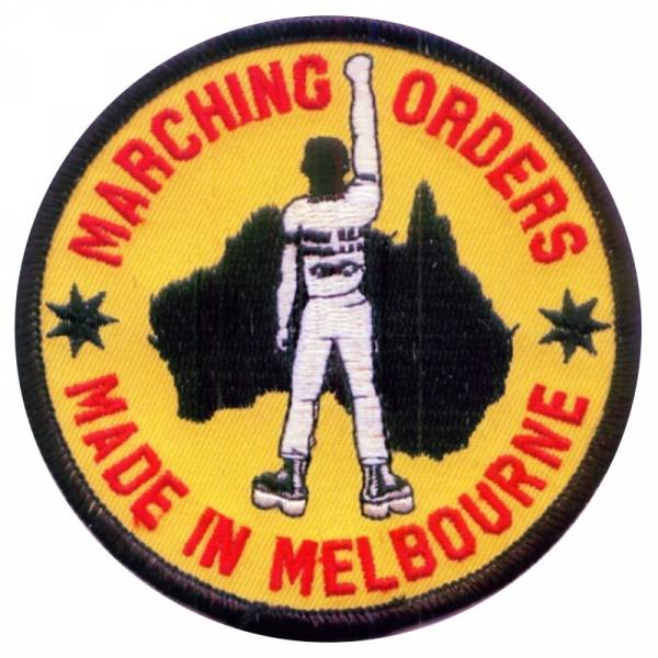 Marching Orders - Made in Melbourne, Aufnäher