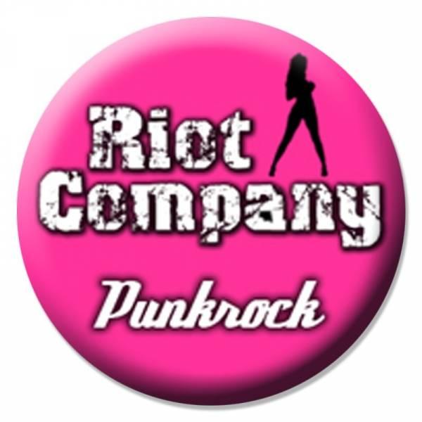 Riot Company - Punkrock pink, Button B099