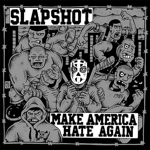 Slapshot - Make America hate again, LP grau BESCHÄDIGT