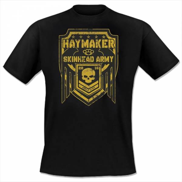 Haymaker - Skinhead Army, T-Shirt schwarz