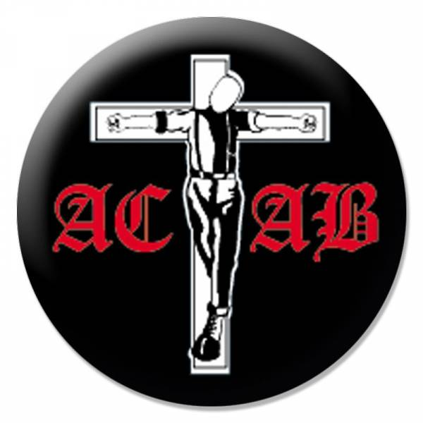 A.C.A.B. - Crucified schwarz, Button B006
