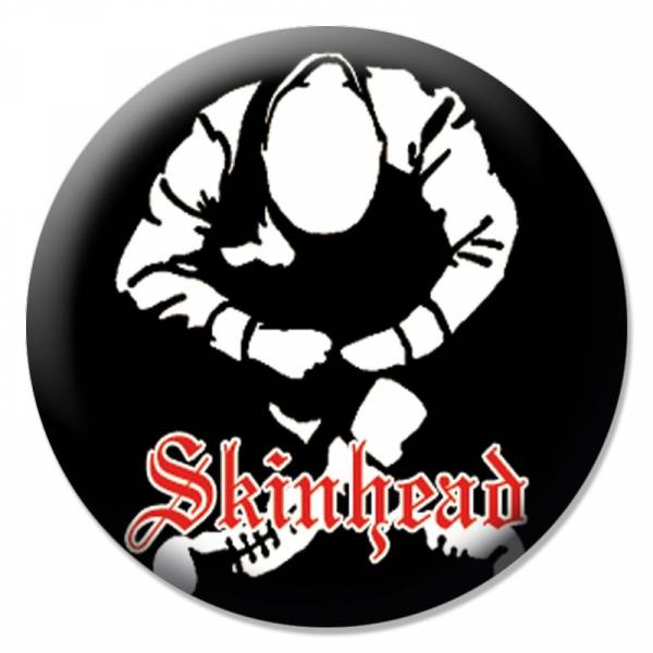 Skinhead - Silhouette, Button B114
