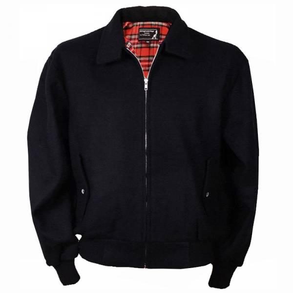 Winter Harrington Jacke, schwarz