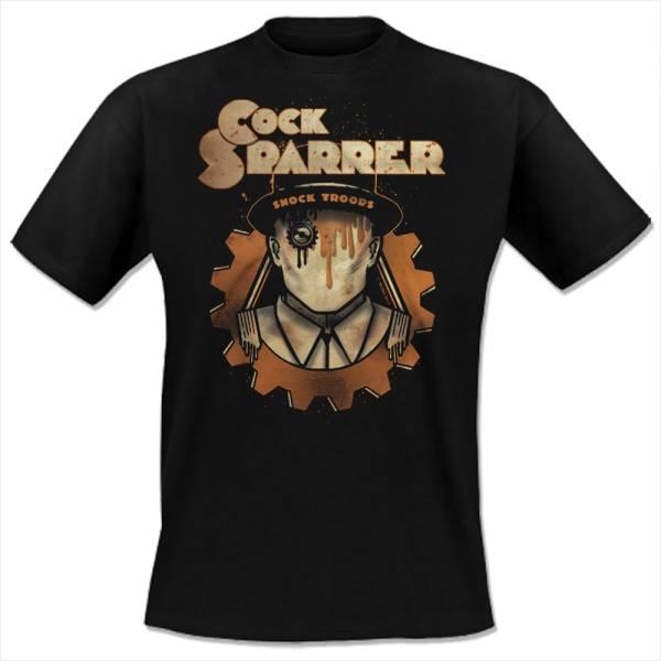 Cock Sparrer - Shock Troops, T-Shirt, schwarz