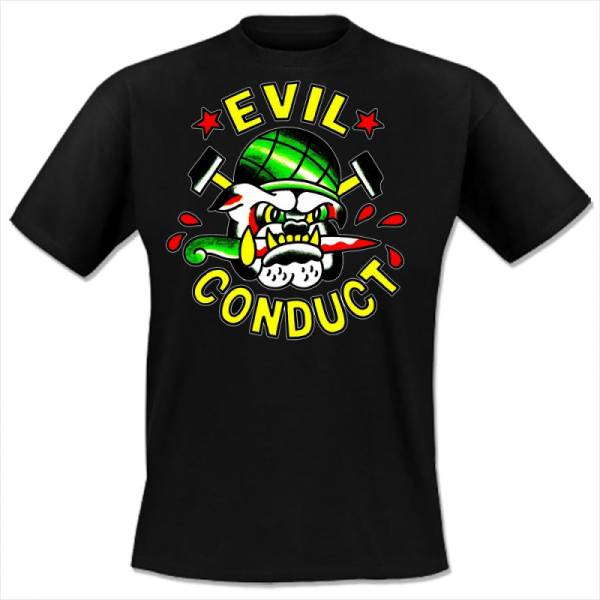 Evil Conduct - Bulldog, T-shirt schwarz