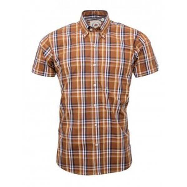 RELCO Clothing - Button Down Kurzärmel-Shirt CK38, verschiedene Größen