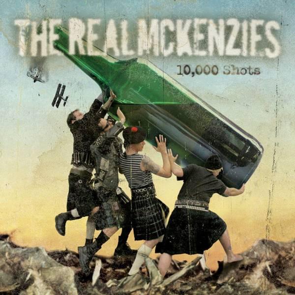 Real McKenzies, The – 10,000 Shots, LP schwarz