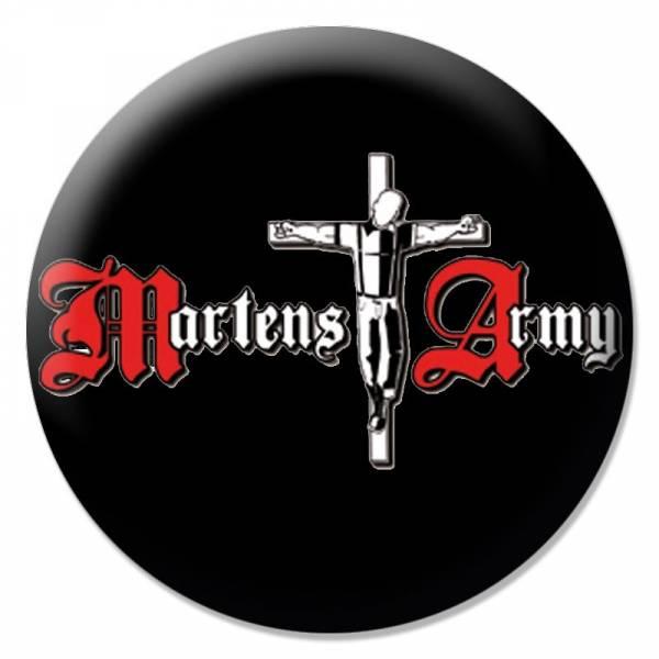 Martens Army - Logo schwarz, Button B066