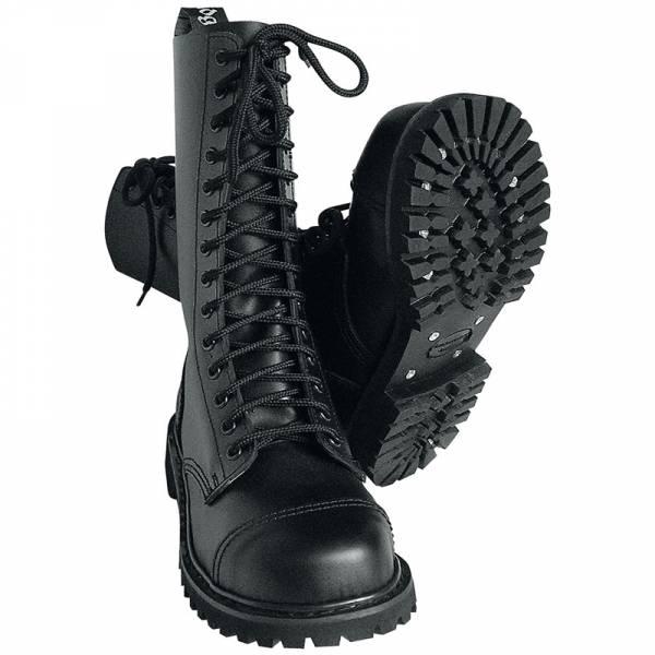 14 Loch, Boots / Stiefel schwarz