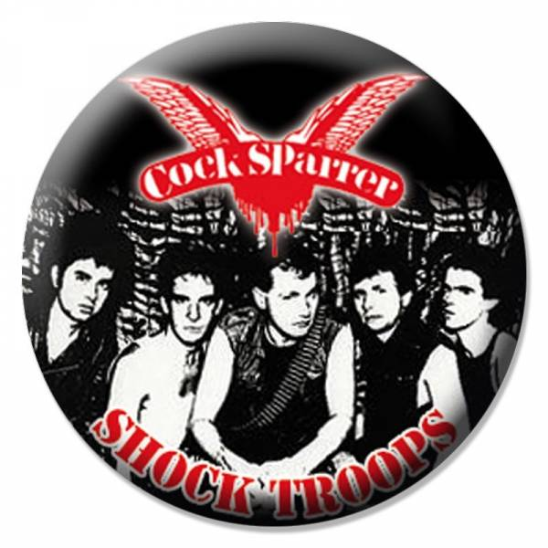 Cock Sparrer - Shock Troops, Button B030