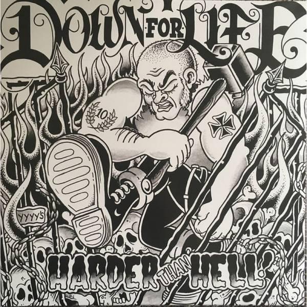 Down For Life - Harder than hell, LP lim. verschiedene Farben BESCHÄDIGT