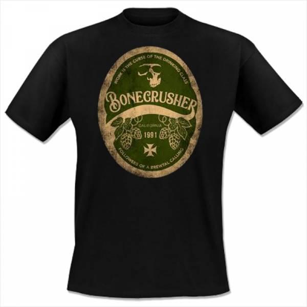 Bonecrusher - Beer, T-Shirt schwarz