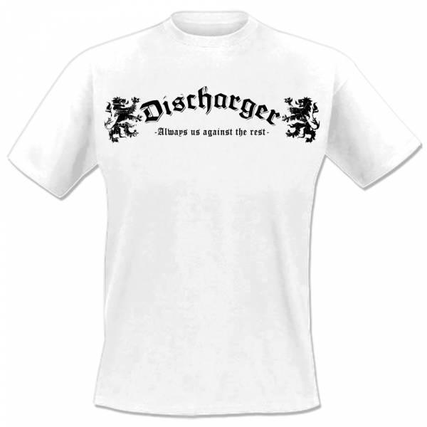 Discharger - Always us against the rest, T-Shirt weiss, lim. 75, OTS Exclusiv