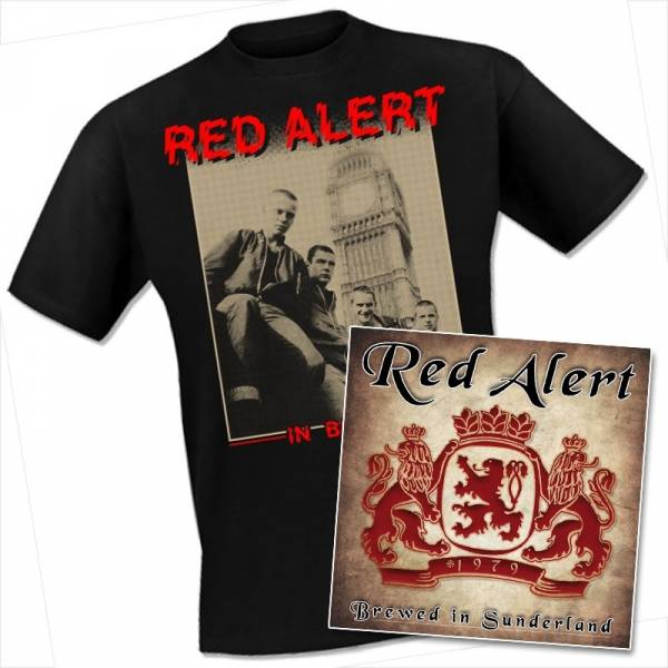 Red Alert - In Britain, T-Shirt + CD Oi! The Shop EXKLUSIV!!!
