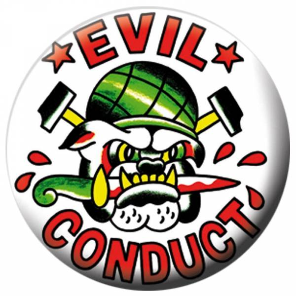 Evil Conduct - Bulldog, Button B045