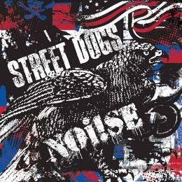 Street Dogs / Noi!se (Noise) - Dto., 10'' rot weiss blau Splatter