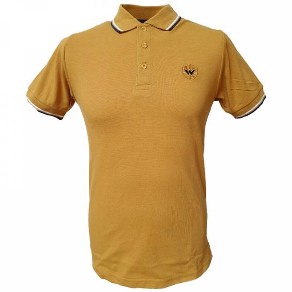 Warrior - Classic, Poloshirt mustard/blau/weiß