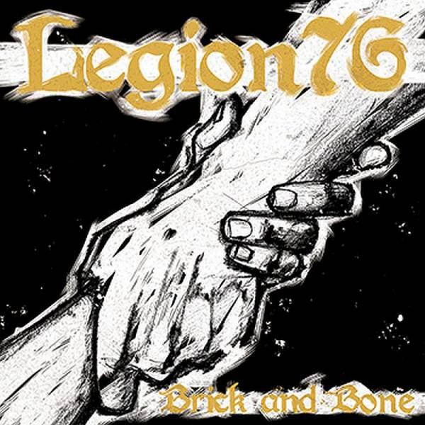 Legion 76 - Brick and Bone, 7'' orange/schwarz splatter