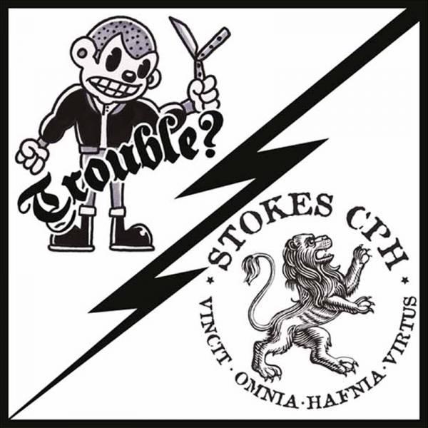 "Trouble ? / Stokes CPH - Split, 7"" lim. 500 verschiedene Farben"