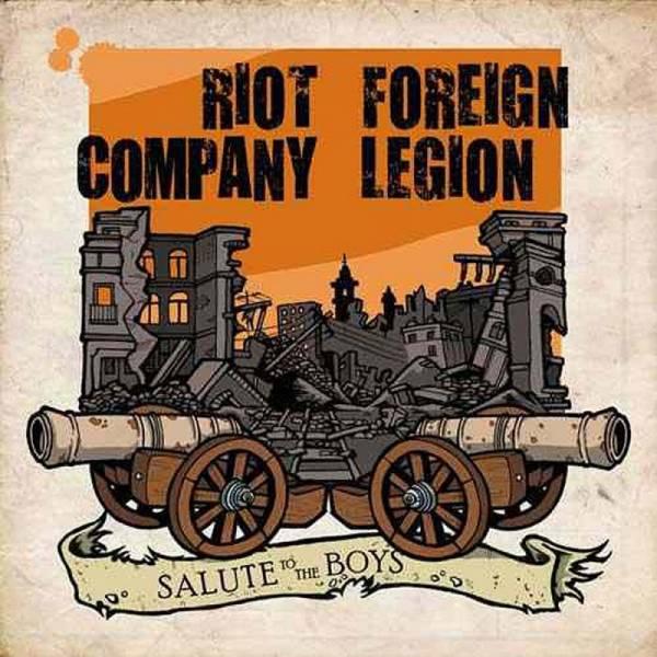 Riot Company / Foreign Legion - Salute to the Boys, 7'' lim. 300 schwarz