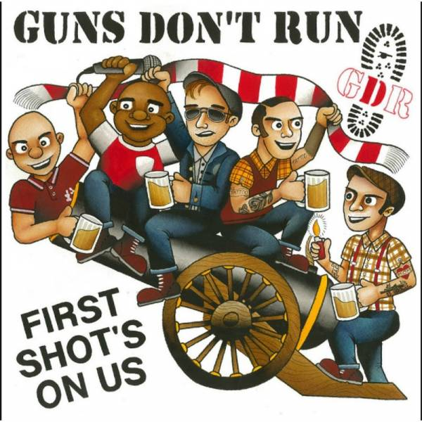 Guns Don't Run - First Shot's On Us, 10'' Red BESCHÄDIGT
