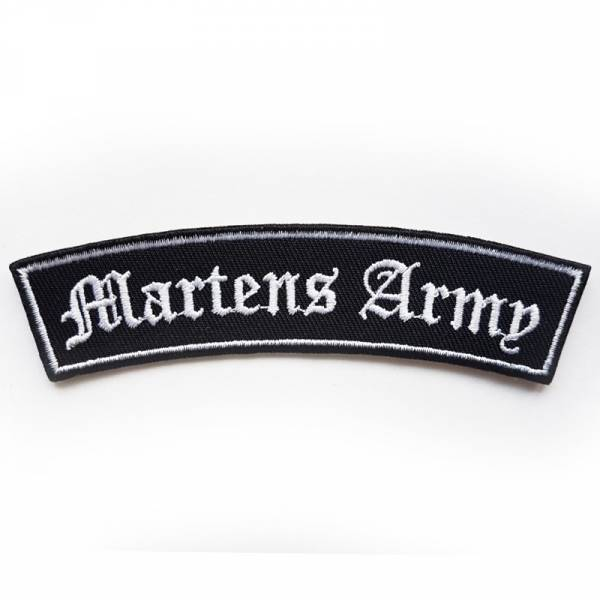 Martens Army - Schriftzug gebogen, Aufnäher