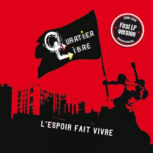 Quartier Libre – L'espoir Fait Vivre, LP lim. 500 rot/schwarz splatter