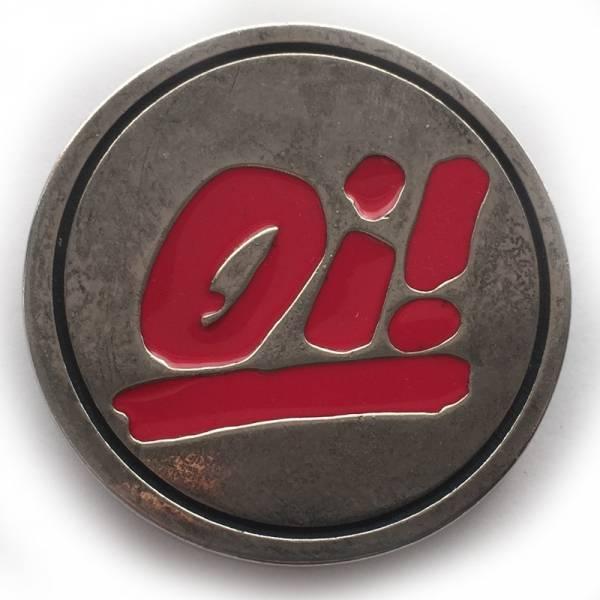 Oi! - Logo rot, Gürtelschnalle