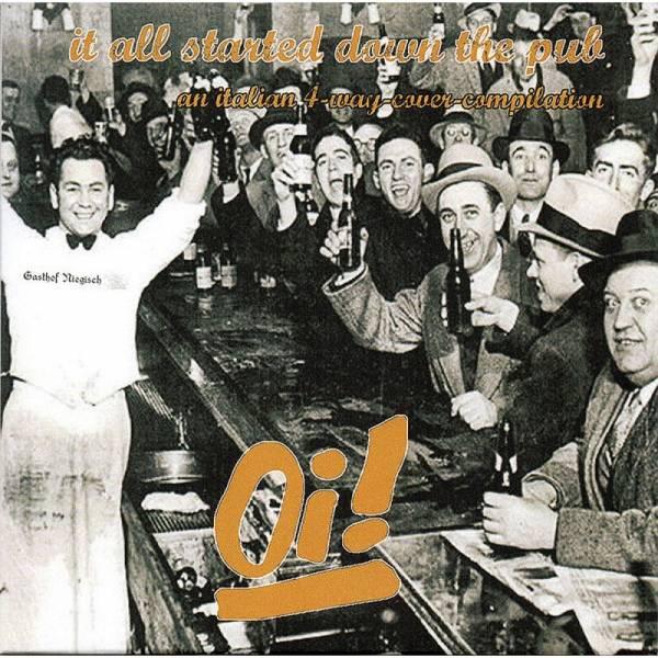 V/A It all started down the pub, 7'' lim. 300 schwarz