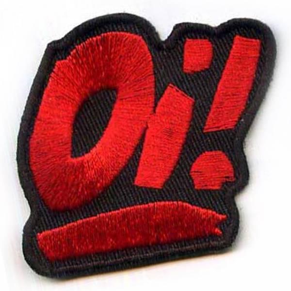 Oi! - Logo rot, Aufnäher