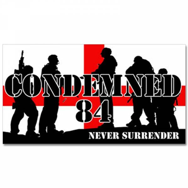 Condemned 84 - Never surrender, Aufkleber