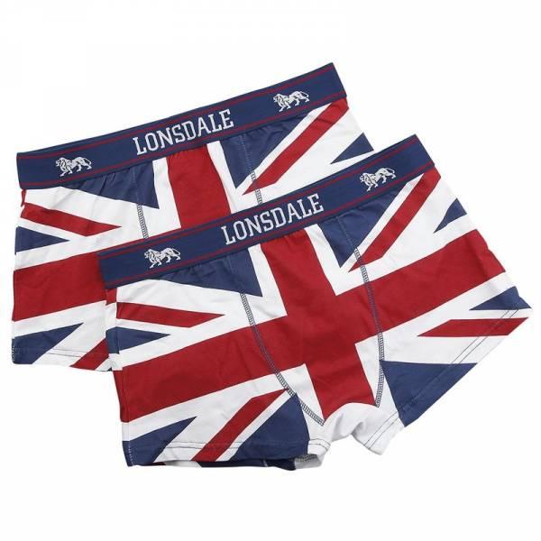 """Lonsdale - Union Jack, Retro Shorts 2-Pack """"TISBURY"""""""
