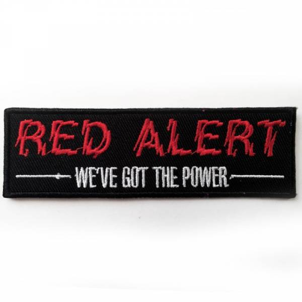 Red Alert - We've got the power, Aufnäher
