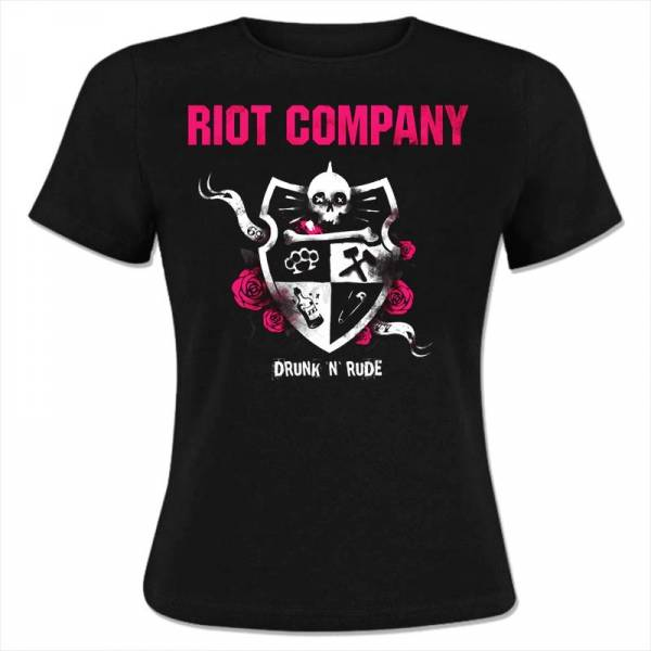 Riot Company - Drunk 'n' Rude, Girly-Shirt