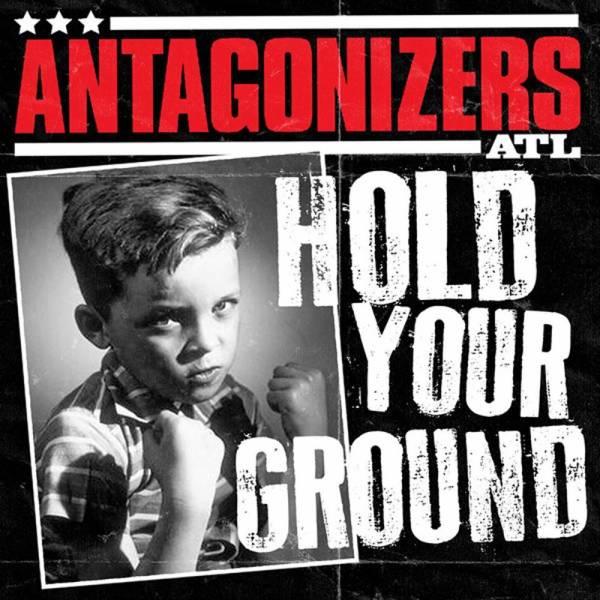 Antagonizers ATL - Hold your ground, 7'' lim. 200 red, black, white splattered