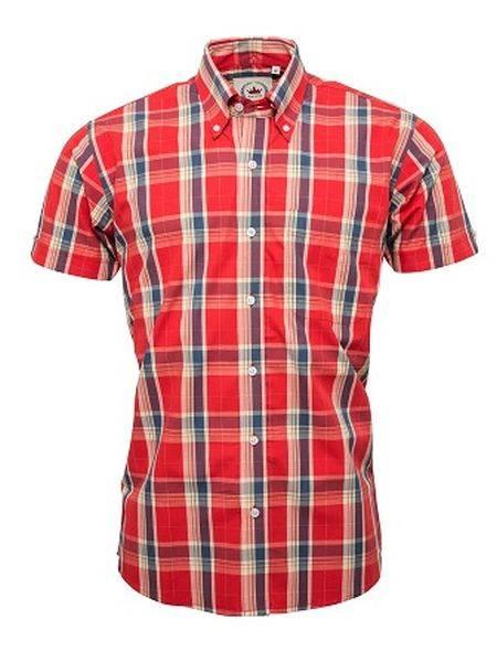 RELCO Clothing - Button Down Kurzärmel-Shirt CK37, verschiedene Größen