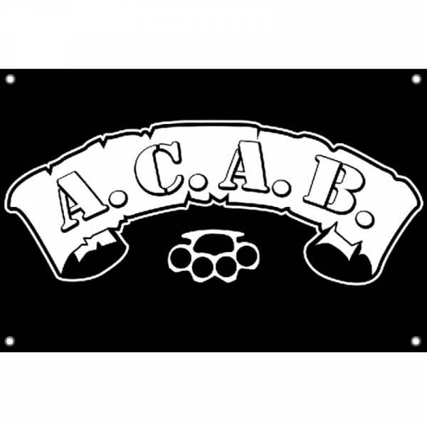 A.C.A.B. - Schlagring, Fahne