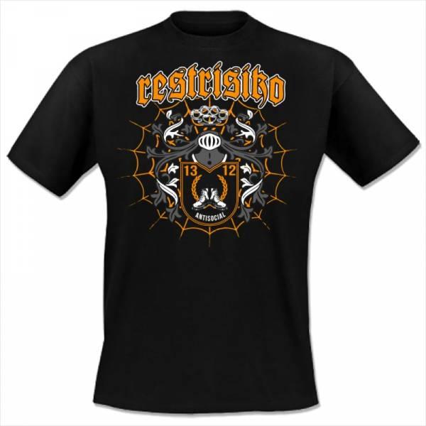 Restrisiko - Antisocial, T-Shirt schwarz