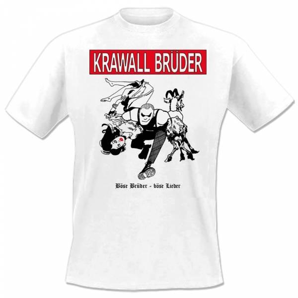 KrawallBrüder - Böse Brüder - Böse Lieder, T-Shirt weiss