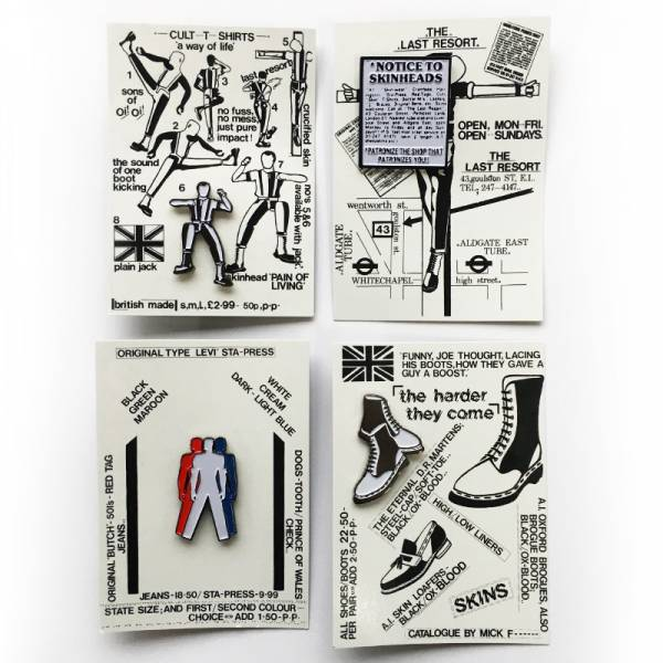 Last Resort Shop - Notice to skinheads, Pin US Import