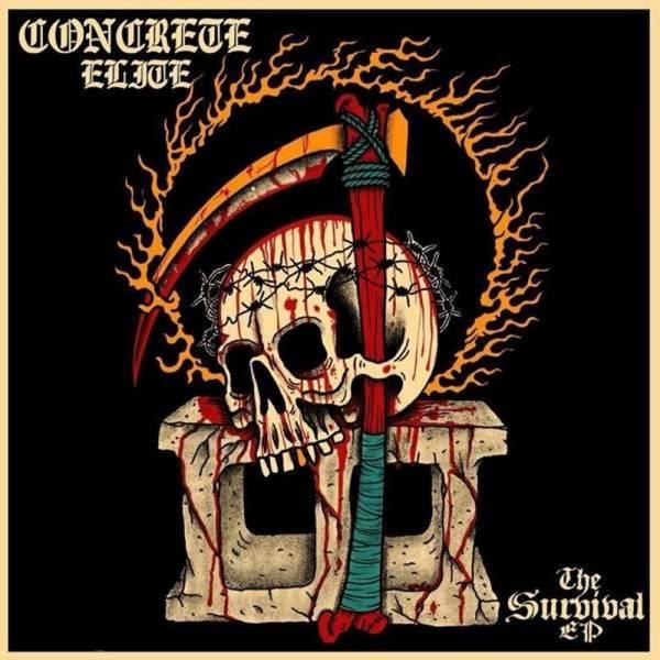 "Concrete Elite - The survival, 12"" lim. 350 bone"