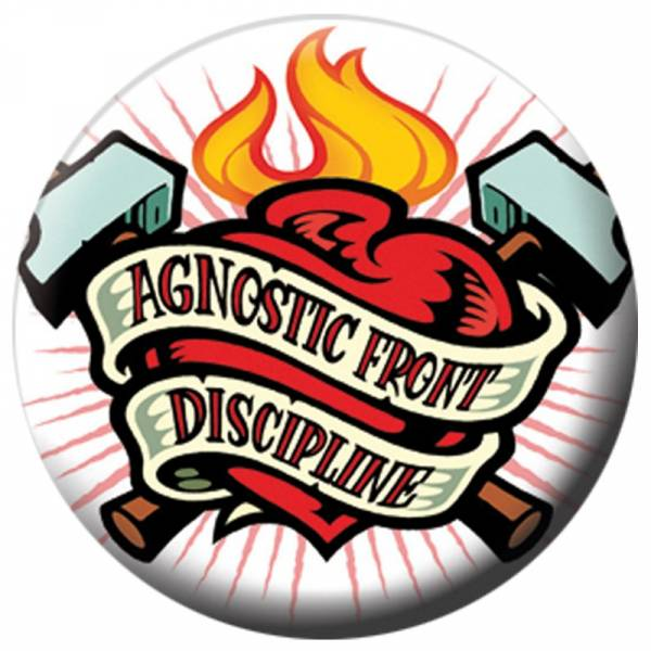 Discipline / Agnostic Front - Working Class Heroes, Button B040
