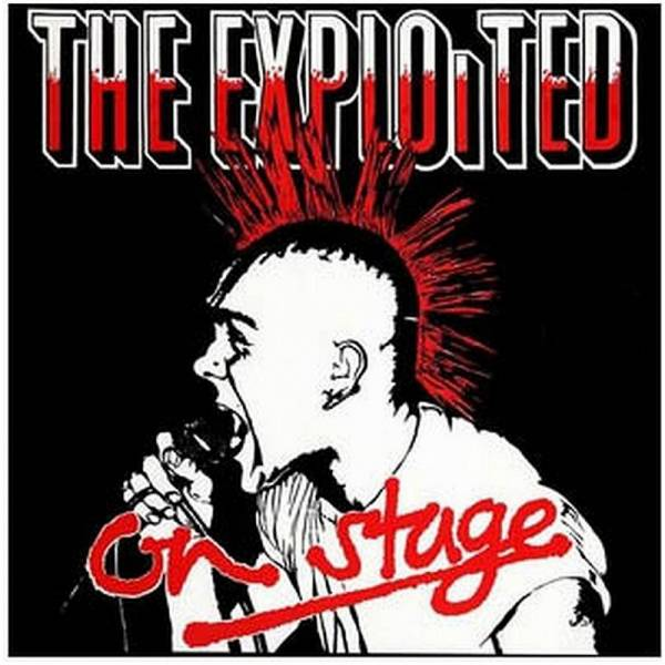Exploited, The - On Stage, LP weiss/rot splatter