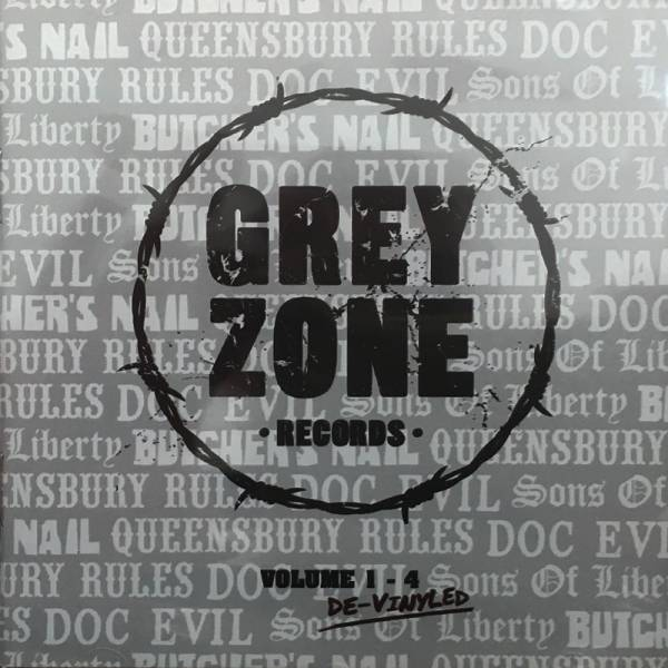 V/A Grey Zone 1-4 - De-Vinyled, CD lim. 300 Queensbury Rules, Doc Evil, Sons of Liberty, Butchers Na