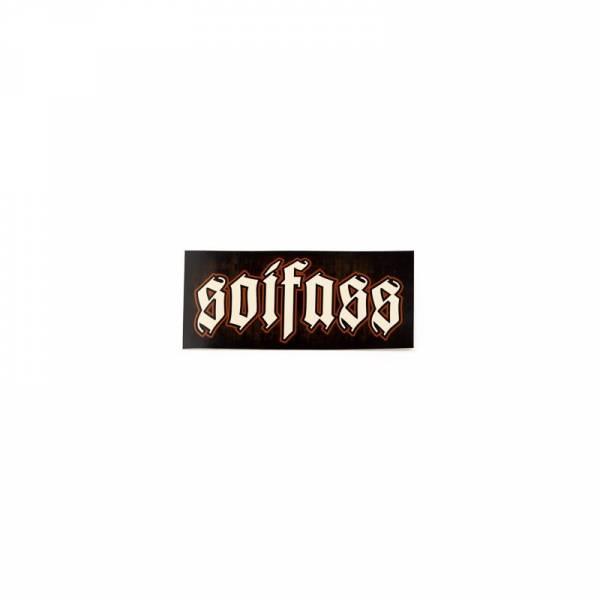 Soifass - Logo, Aufkleber eckig