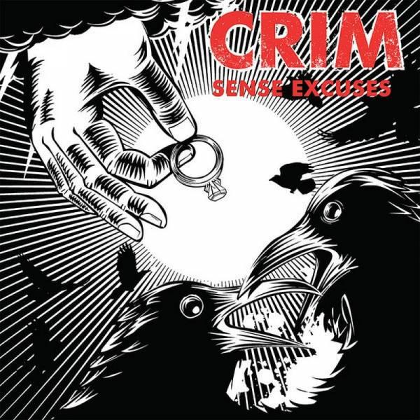 Crim - Sense Excuses, 7'' gelb/rot splatter