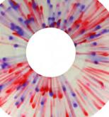clear/weiß/rot/blau splatter