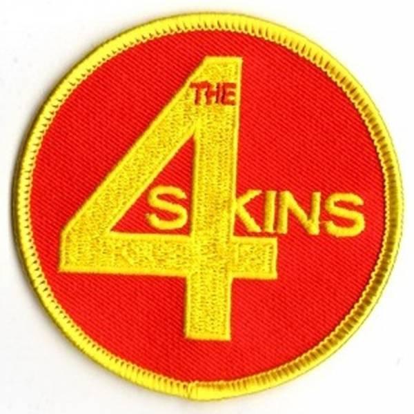 4 Skins - Logo, Aufnäher rund