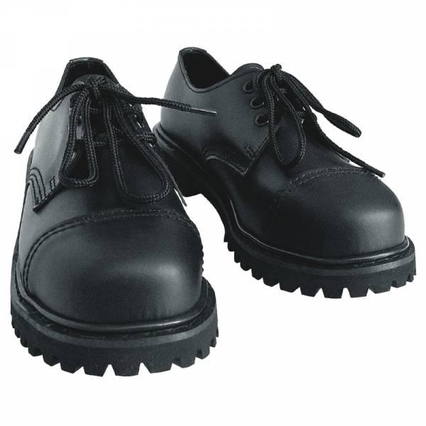3 Loch, Boots / Schuhe mit Stahlkappe schwarz